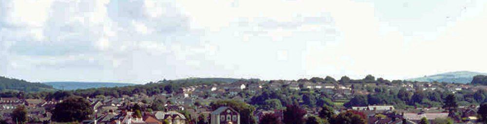 View over Pontyclun from Brynsadler