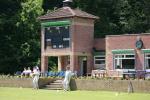 Miskin Manor cricket club pavillion and scoreboard