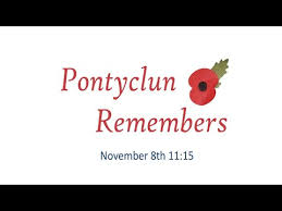 Pontyclun Remembers logo